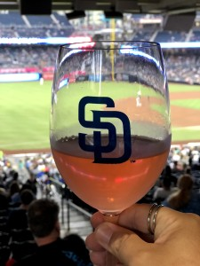 Rose from an actual wine glass at Petco Park!
