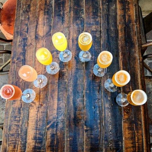 Mimosas at Salut Kitchen and Bar
