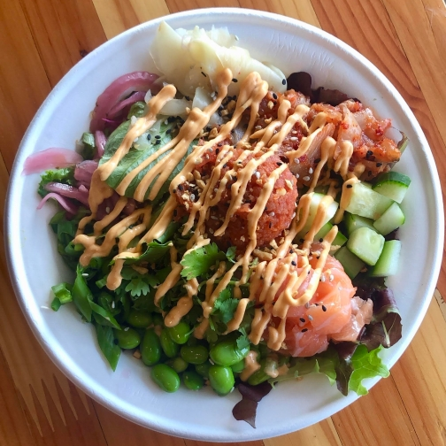 Poke bowl from Ocean Poke